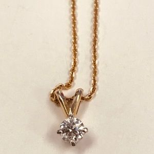 Jewelry - .35 carat diamond solitaire necklace